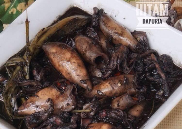 Resep Cumi masak hitam