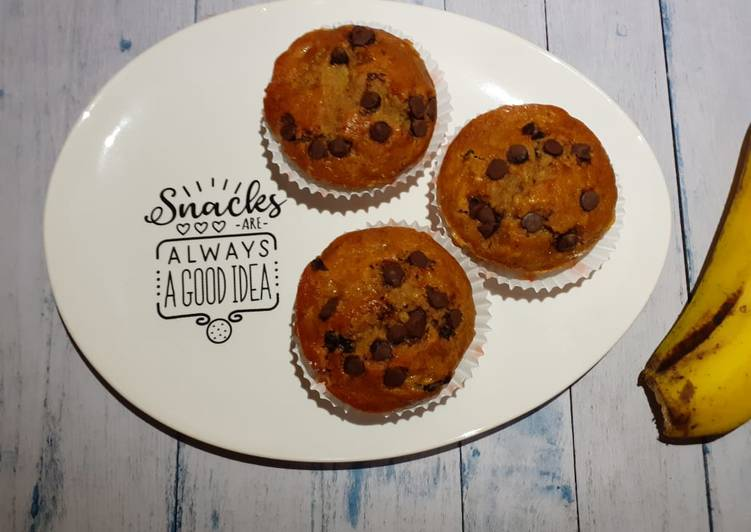 Resep Banana Muffin with Chocochips