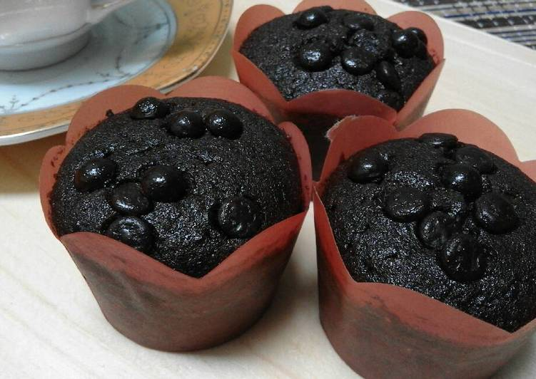 Resep Chocolate custard muffin