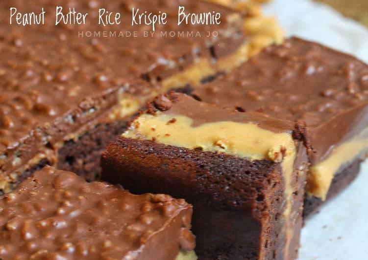 Resep Peanut Butter Rice Crispy Brownie