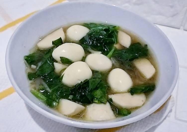 Resep Kale telur puyuh baso ikan
