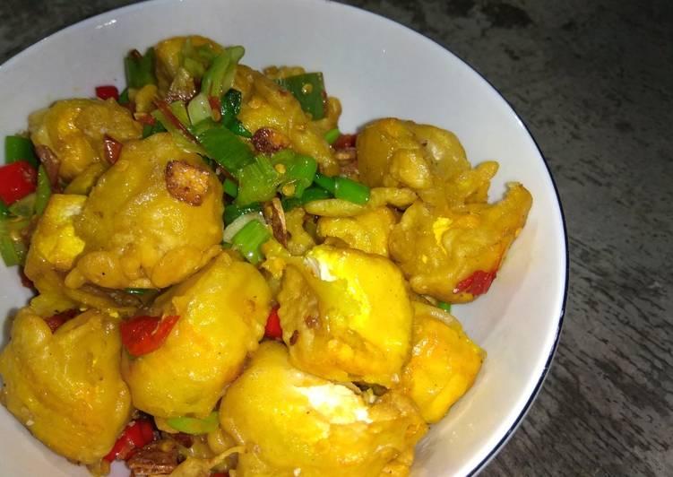 Resep Tahu crispy cabe garam