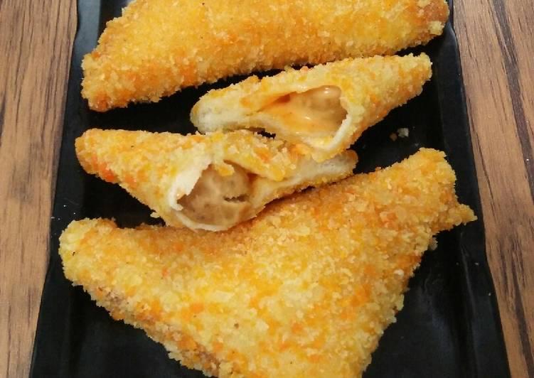 Resep Roti Tawar Goreng Isi Sosis Mayonaise Pedas