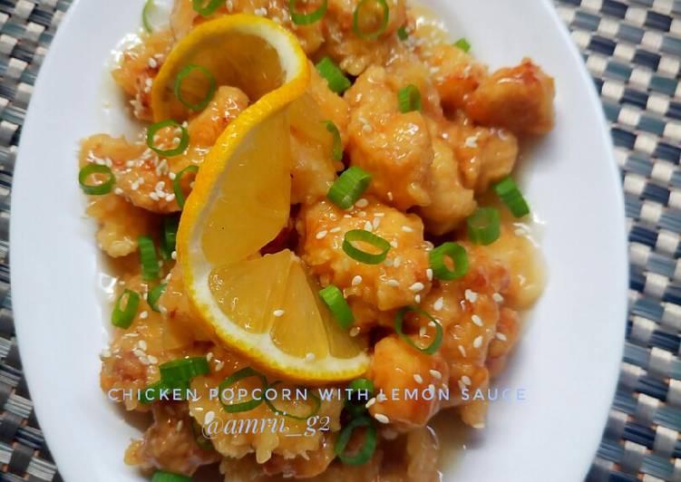 Resep Chicken popcorn saus lemon