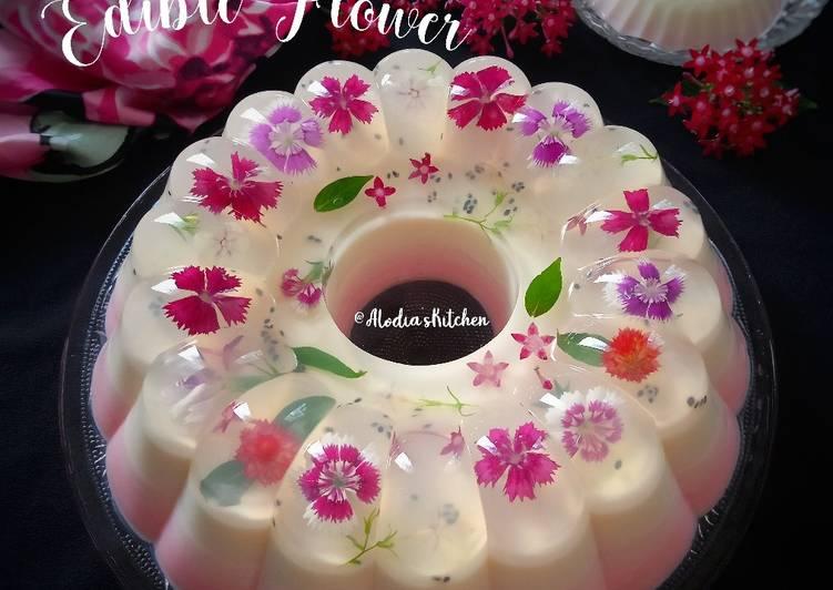 Resep Soft Pudding Edible Flower