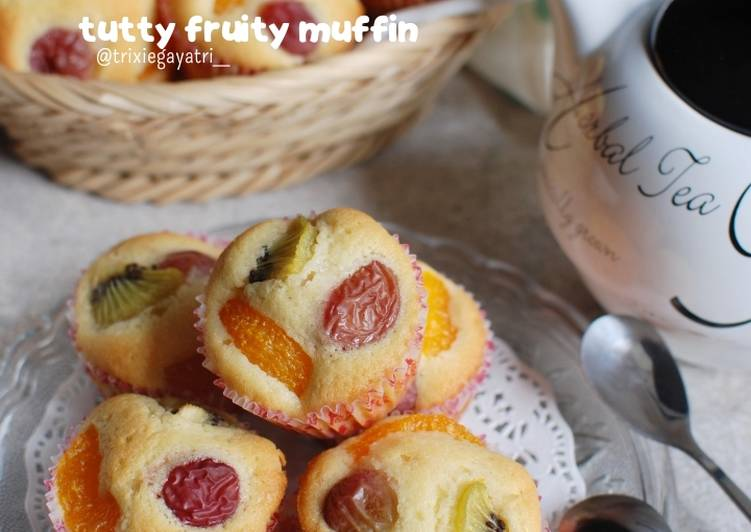 Resep Tutty Fruity Muffin