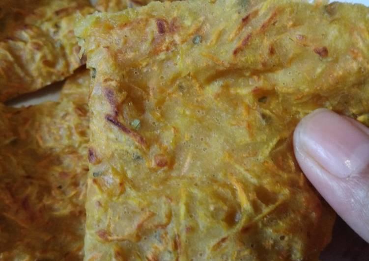 Resep Bakwan wortel (defisit kalori)