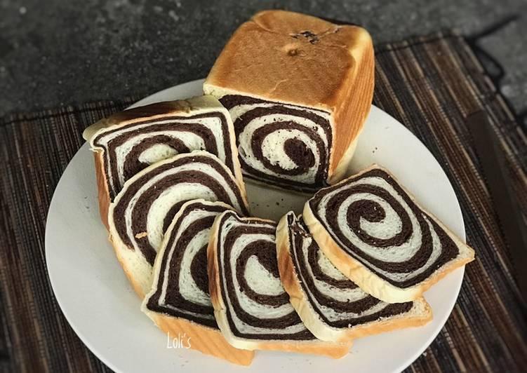Resep Roti Tawar Swirl (Shokupan Yudane Method)