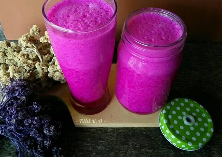 Resep Yogurt Drink Buah Naga