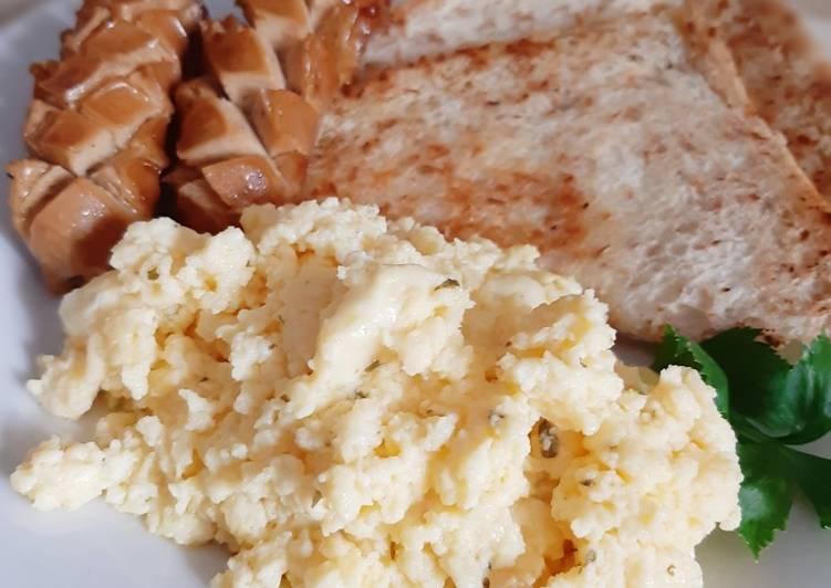 Resep Orak-arik Telur (Scramble Egg) Keju Lembut