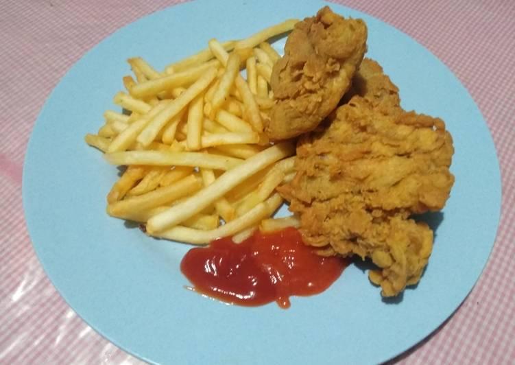 Resep Ayam Crispy bumbu Sasa ala Kentucky..