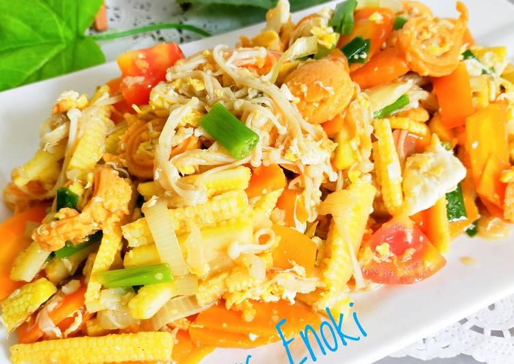 Resep Cah jamur Enoki jagung putren