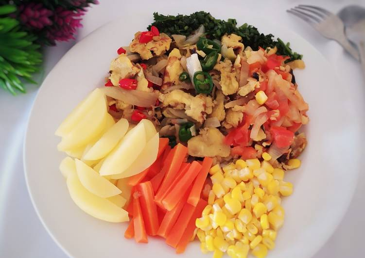 Resep Scrambled Egg With Vegetables
