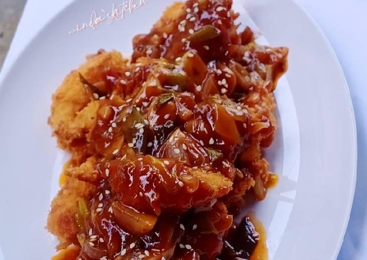 Resep Udang crispy saus bbq
