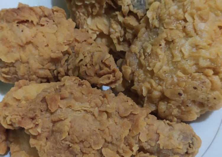 Resep Ayam Goreng Tepung (dijamin kriwil, renyah dan juicy+tips&trik)