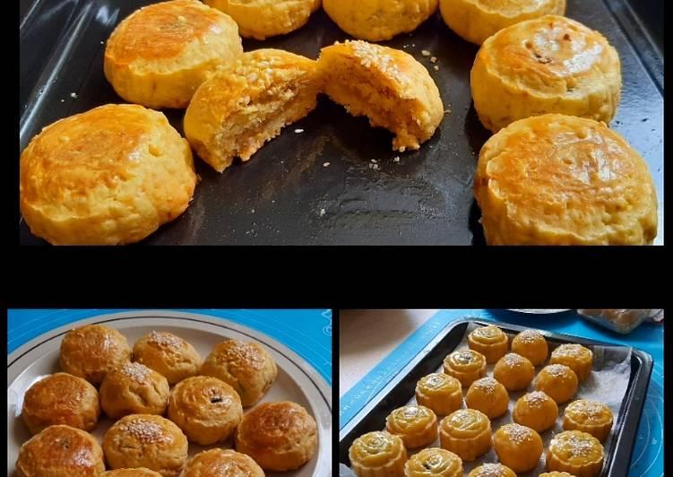 Resep Shanghai Mooncakes (mooncakes ala Shanghai) - Halal