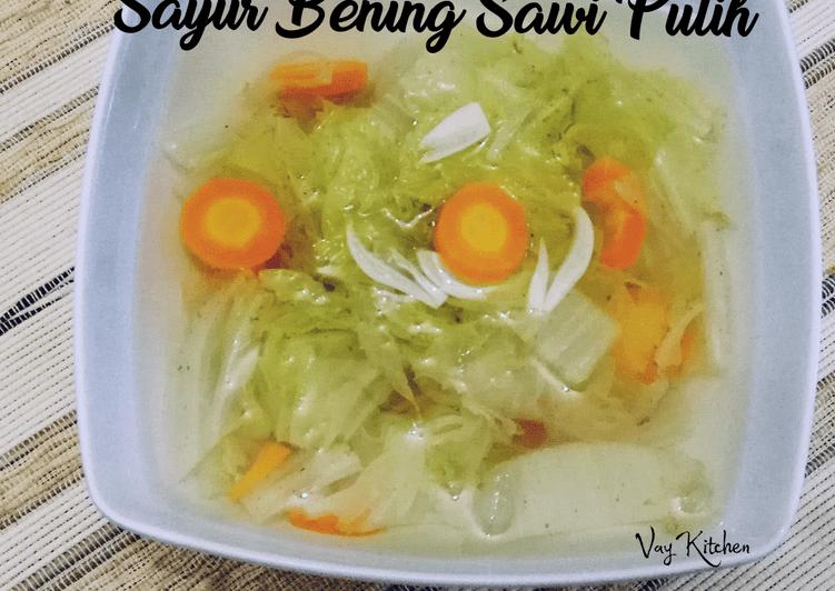 Resep Sayur Bening Sawi Putih