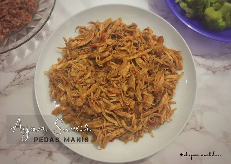 Resep Ayam Suwir Pedas Manis