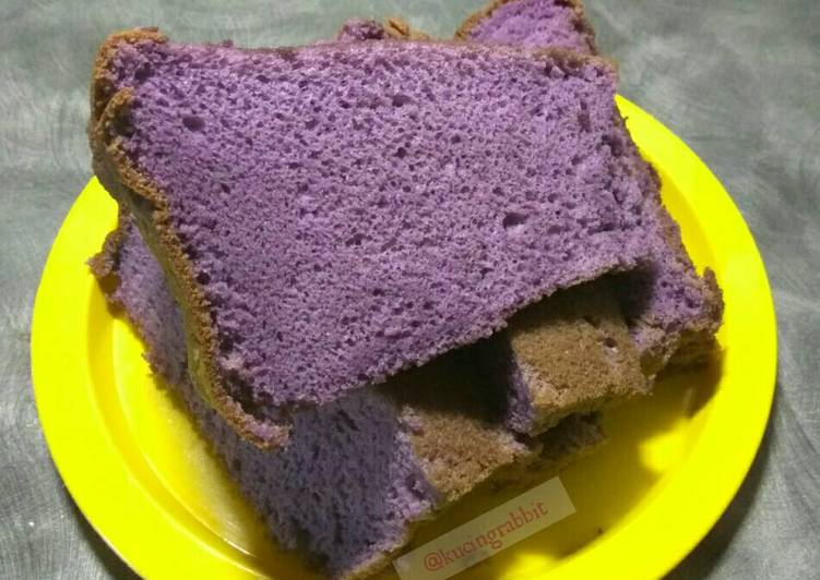 Resep Taro Chiffon Cake