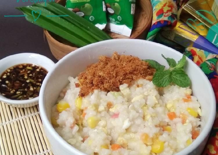 Resep Bubur Nasi Santan Bercampur