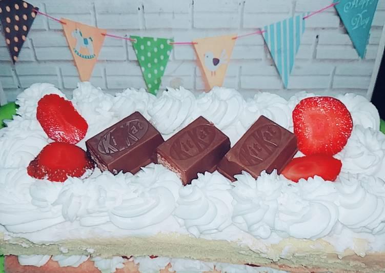 Resep Naked tart cake