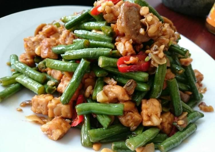 Resep Tumis kacang panjang tempe