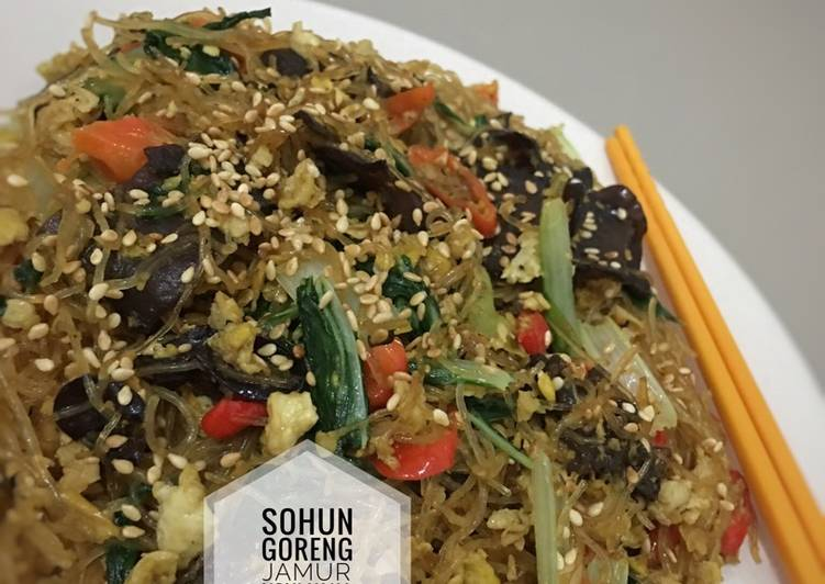 Resep Sohun goreng jamur simple