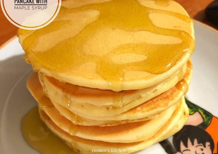 Resep Classic Pancake With Maple Syrup