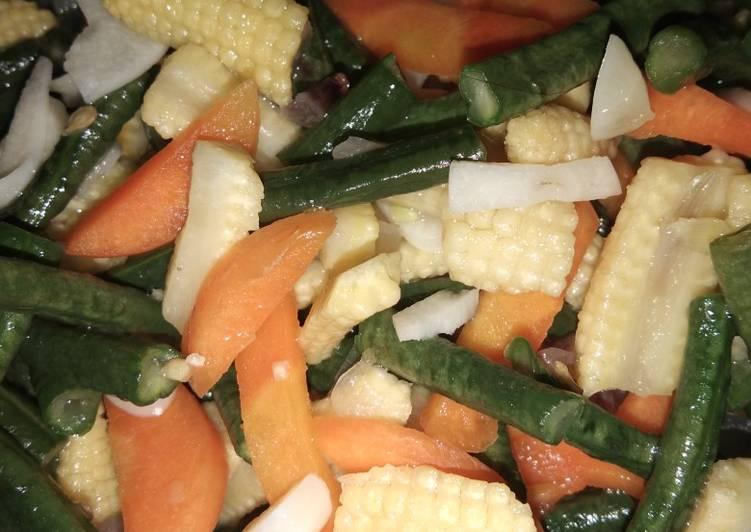 Resep Tumis sayur kacang panjang putren simple