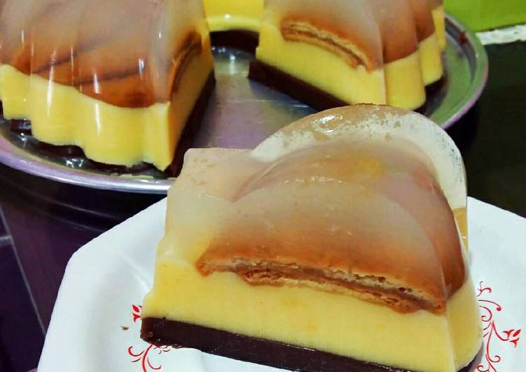 Resep Puding marie 3lapis