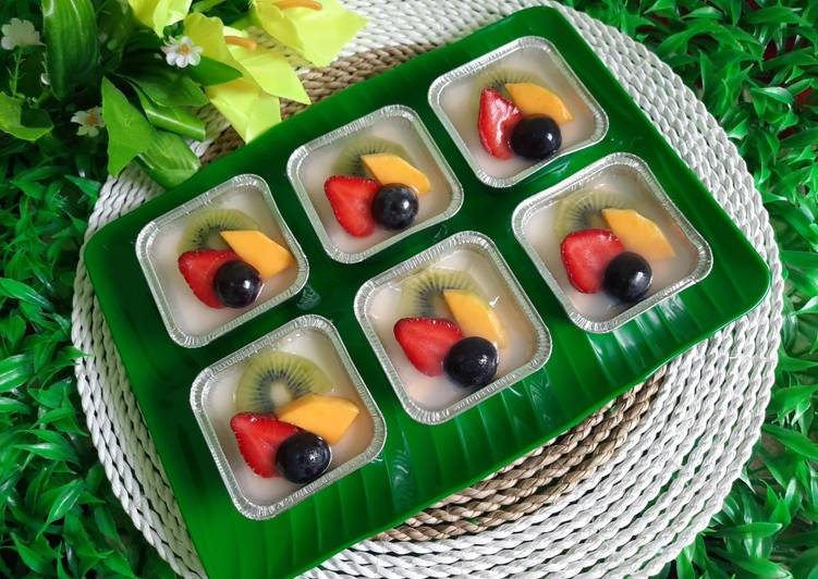 Resep Fruitty Pudding