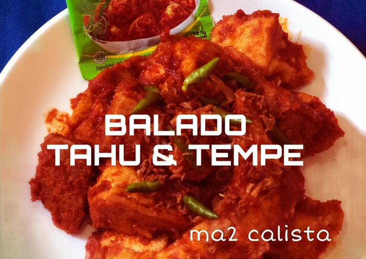 Resep Balado tahu & tempe