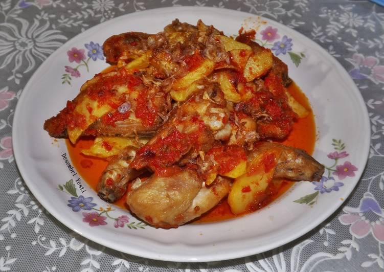 Resep Ayam goreng sambal sederhana