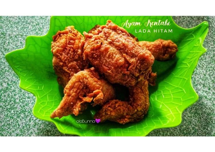 Resep Ayam Kentaki Marinasi Lada Hitam / Ayam Crispy Lada Hitam