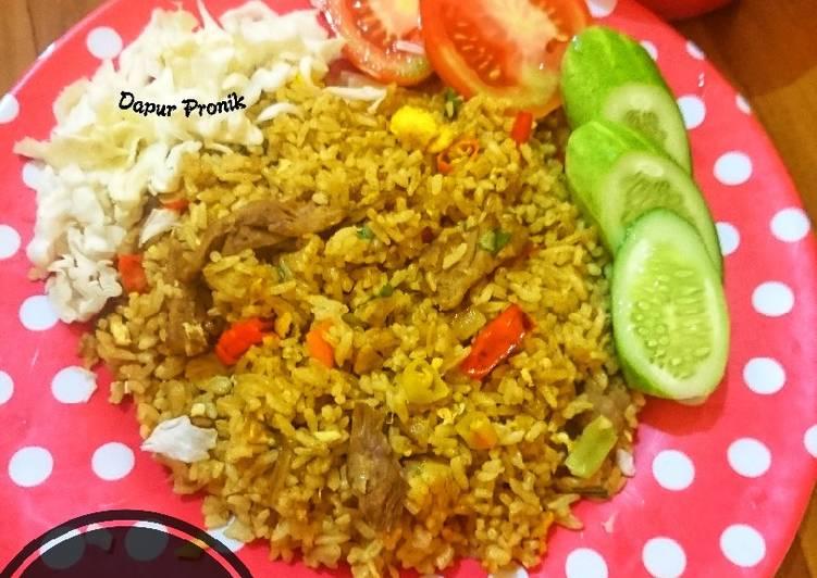 Resep Nasi Goreng Daging Bumbu Kari