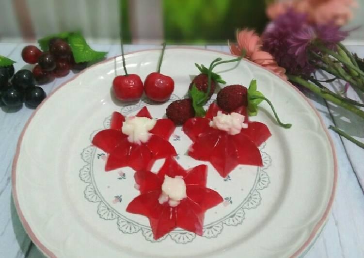 Resep Puding merah putih (puding vla susu)#dapurmerahputih