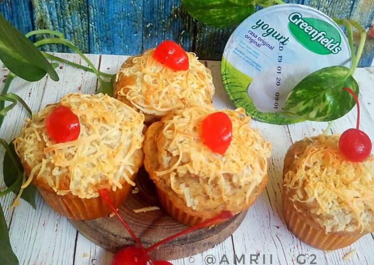 Resep Banana yogurt muffins
