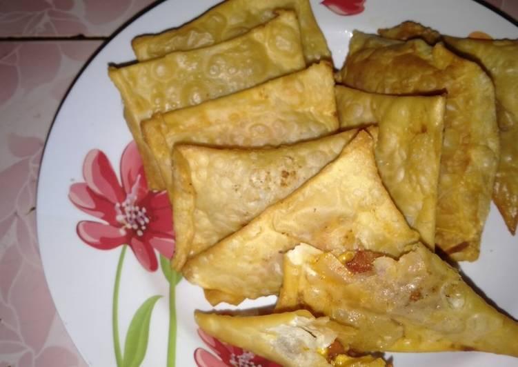 Resep Hot soo telur dan kornet daging sapi