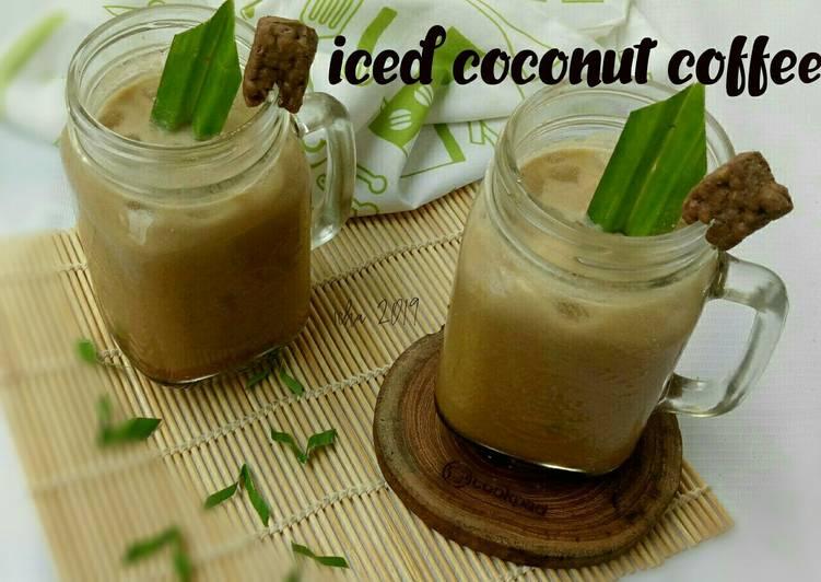 Resep Iced coconut coffee