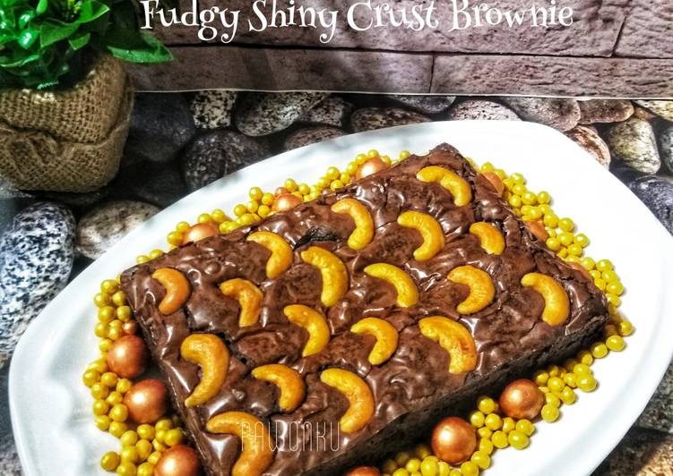 Resep 430.Fudgy shiny Crust Brownie