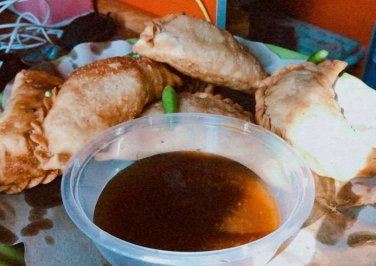 Resep Pastel (jalangkote) isi bihun daging sambel merecon