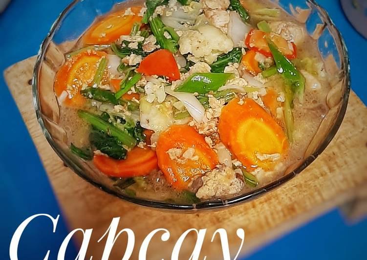 Resep Cap cay Kuah Ayam