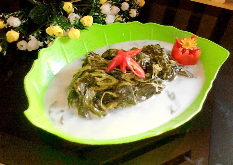 Resep Sayur Bobor Daun Singkong