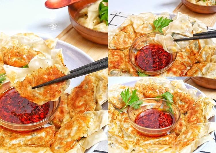 Resep Gyoza / Pangsit Isi Telur Sayur
