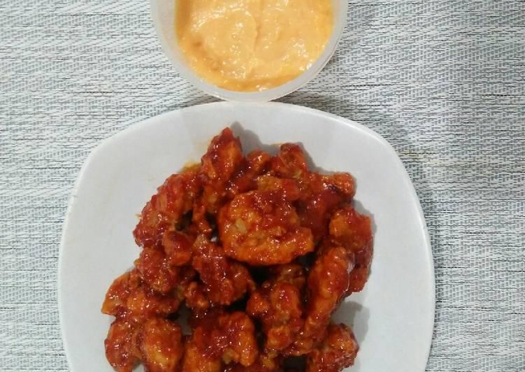 Resep Yangnyeom Tongdak (Spicy Fire Chicken) + Saus Keju