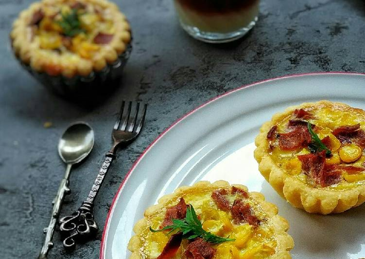 Resep Mini Quiche Smoked Beef and Corn
