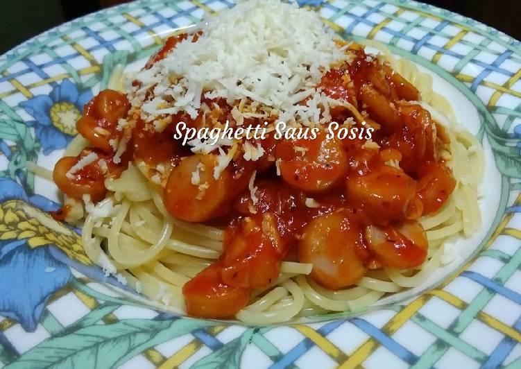 Resep Spaghetti Saus Sosis