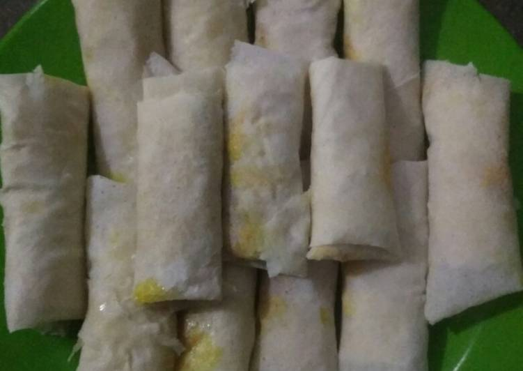 Resep Risol isi ayam sosis Frozen food