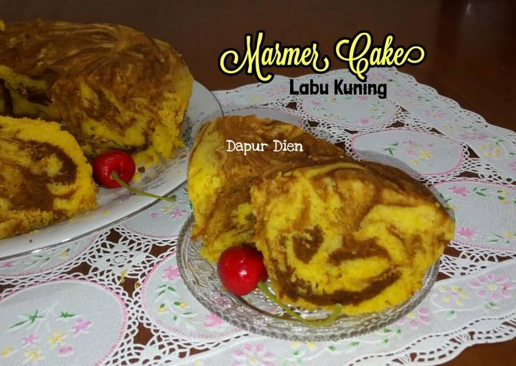 Resep Marmer Cake Labu Kuning