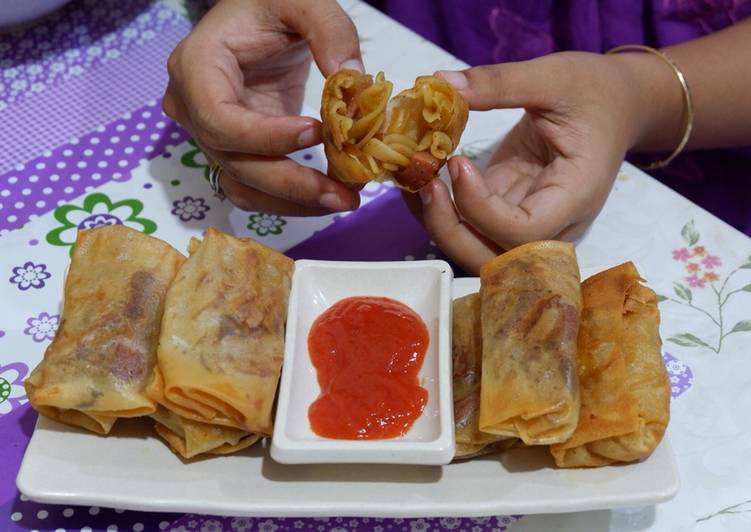 Resep lumpia isi macaroni #BikinRamadanBerkesan
